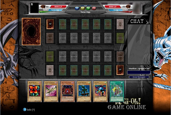 Yu-Gi-Oh Online traz batalhas em turnos que precisam de muita estratégia (Foto: Reprodução/ Matheus Vasconcellos)
