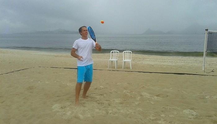 Gualter Salles no Beach Tennis