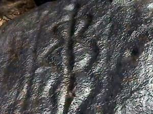 Pinturas rupestres são encontradas na Zona Rural de Petrolina (Foto: Reprodução/TV Grande Rio)