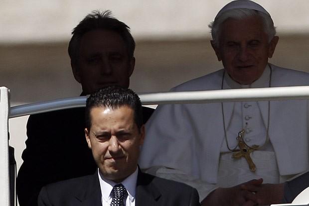 Paolo Gabriele, mordomo do papa, em foto de 23 de maio (Foto: AFP)