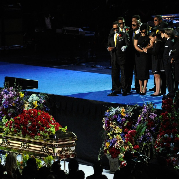 Funeral de Michael Jackson em 2009 (Foto: Getty Images)