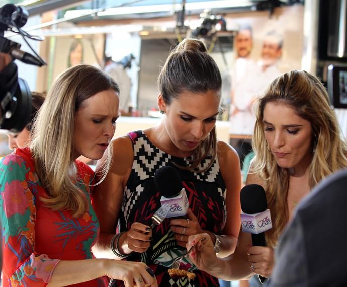 Fernanda Rodrigues com as repórteres Talitha Morete e Rafa Brites (Foto: Carolina Morgado/Gshow)
