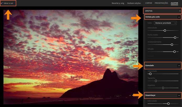Adicione vinhetas na foto, granulações ou a edição para desembaçar o cenário (Foto: Reprodução/Barbara Mannara)