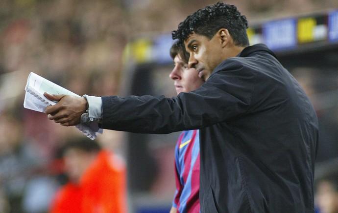 Frank Rijkaard Messi Barcelona (Foto: Getty Images)
