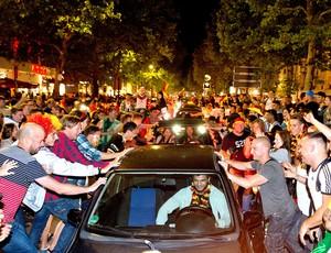 festa torcida da Alemanha em Berlim (Foto: AFP)