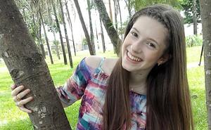 Catarina Estralioto The Voice Kids (Foto: Divulgação/RPC)