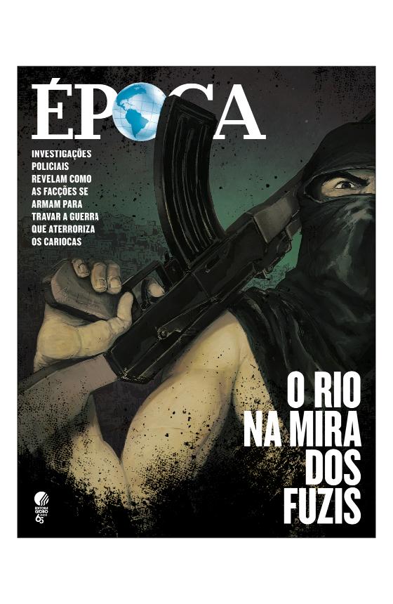 Capa edição 1013 Revista Época - RIO  (Foto: Ilustrações: Diego Sanches )