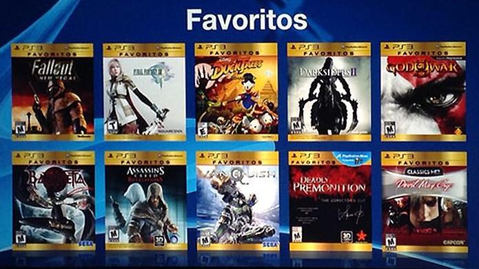 Linha Favoritos ganhará mais de 10 novos jogos por R$ 79,90 no PlayStation 3 (Foto: Divulgação)