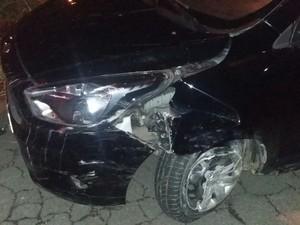 Adolescente bateu o veículo durante perseguição em Campinas (Foto: Divulgação/Polícia Militar)