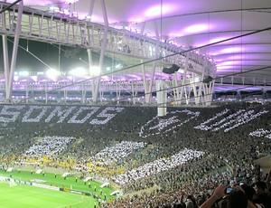 mosaico torcida do Botafogo Maracanã (Foto: Fred Huber)
