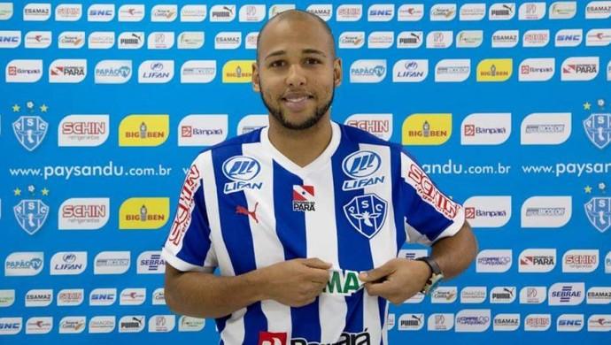 Sérgio Manoel foi contratado após a lesão de Ricardo Capanema (Foto: Reprodução/site oficial do Paysandu)