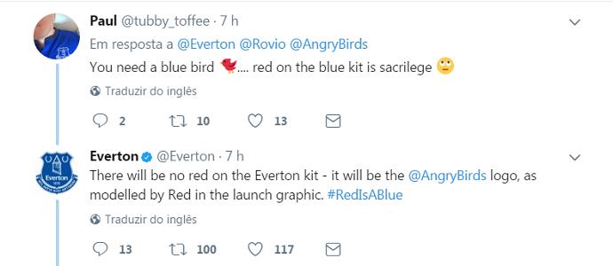 Torcedor Everton Angry Birds