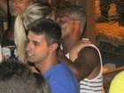 Romário curte a noite carioca com a namorada, Dixie Pratt
