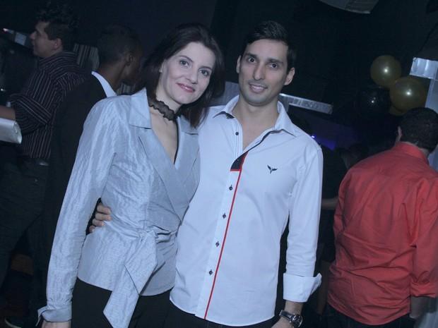 Malga Di Paula e namorado, Felipe Batista, em inauguração de boate na Zona Oeste do Rio (Foto: Gabriel Rangel/ Ag. News)