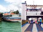 Ferry tem saídas a cada 30 minutos e lanchas operam com 8 embarcações