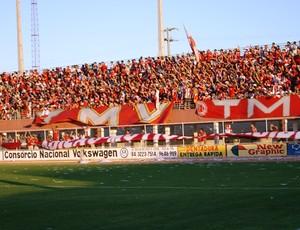 Torcida do América-RN lotou o estádio Nazarenão (Foto: Augusto Gomes)