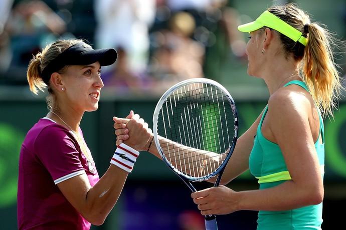 Elena Vesnina x Maria Sharapova Tênis Rússia (Foto: Getty Images)