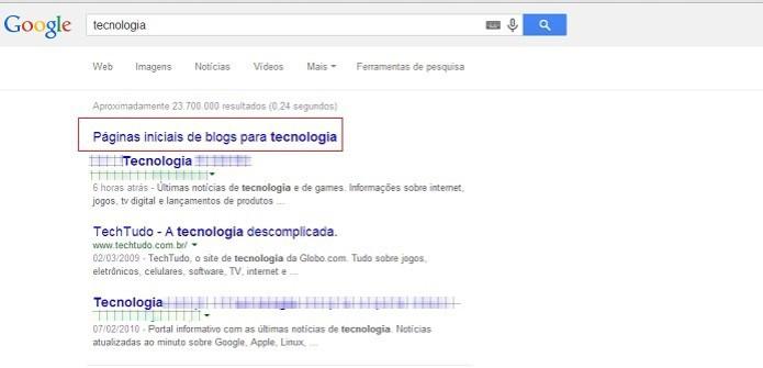 Clique em para ver o resultado desejado na busca refinada do Google (Foto: Reprodução/Taysa Coelho)