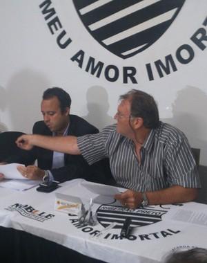 David Isaac, presidente do Conselho Deliberativo e Paulo Marzola, vice-presidente do Comercial (Foto: João Fagiolo)