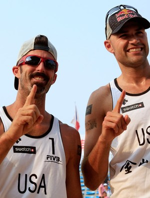 Dalhausser e Rogers - Xangai (Foto: AP)