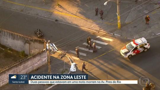 Acidente de moto causa duas mortes na Zona Leste de São Paulo