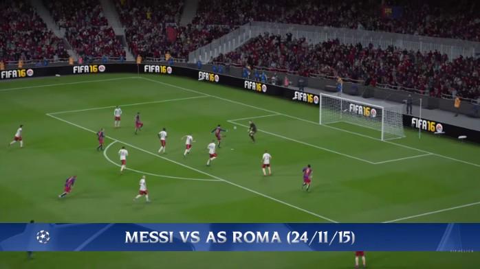 BLOG: Canal recria golaços da fase de grupos da Champions no Fifa 16 com Messi e Suárez