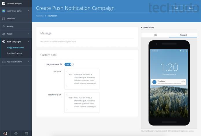 Facebook Analytics vai oferecer notificações Push para apps que usarem a plataforma  (Foto: Divulgação/Facebook)