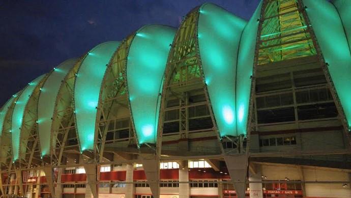 Beira-Rio Inter verde Chapecoense (Foto: Divulgação / Internacional)