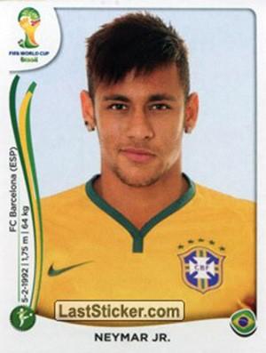 Neymar figurinha Copa do Mundo