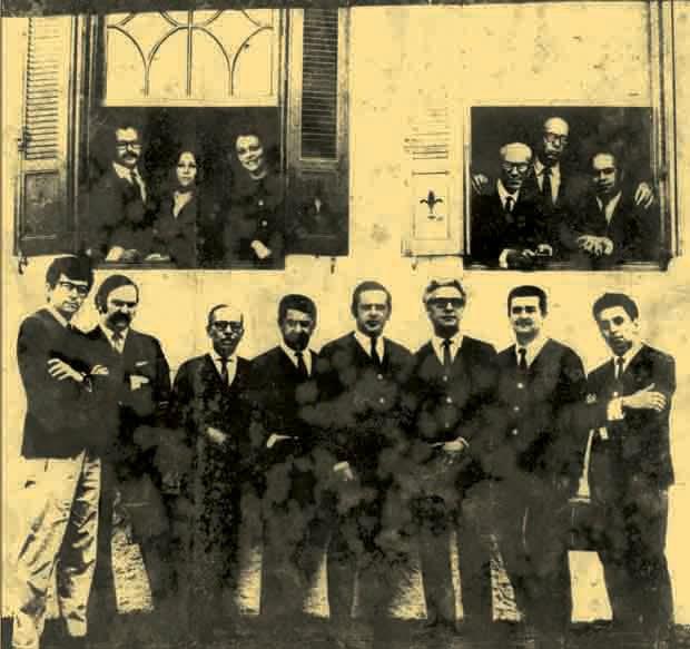 Primeiros professores da Panamericana, 1963 (Foto: divulgação)