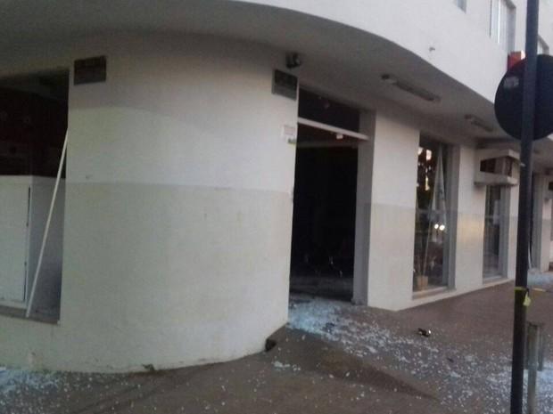 Explosão banco Serra do Salitre  (Foto: Polícia Militar/Divulgação)