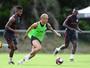 Zago faz primeiro esboço e testa Inter com Seijas e D'Alessandro juntos