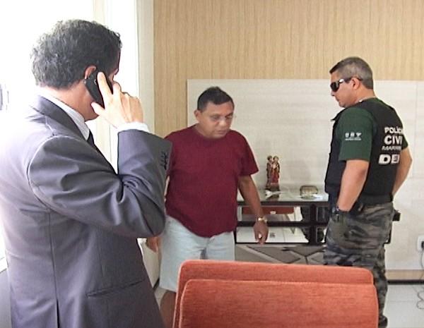 Ex-prefeito foi preso na manhã desta quinta-feira (18), em sua residência no bairro do Vinhais, em São Luís (Foto: Reprodução/TV Mirante)