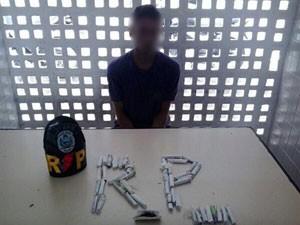 Traficante pede para ser preso na Paraíba  (Foto: Divulgação/2º BPM)