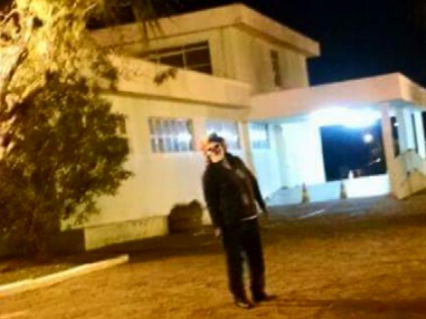 Palhaços sinistros também foram vistos em outras cidades do Sul de Minas (Foto: Reprodução EPTV)