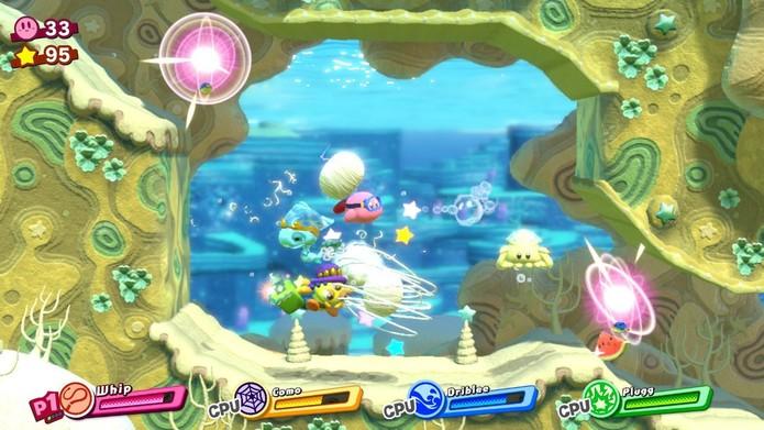 Kirby Star Allies (Foto: Reprodução/Victor Teixeira)