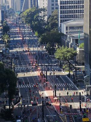 Avenida Paulista ciclovia (Foto: Nelson Antoine/AE)
