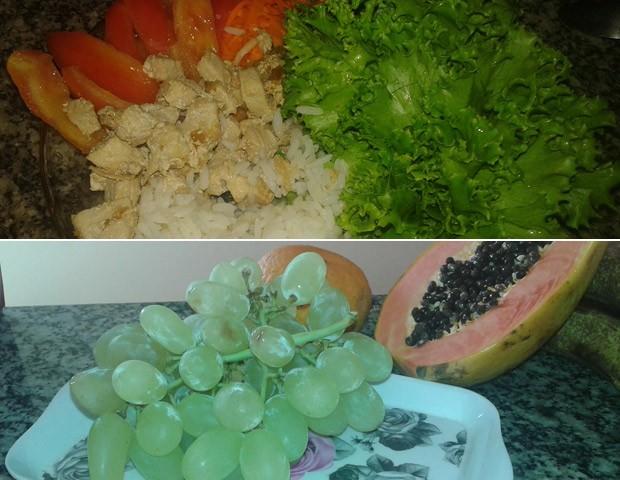 Vanessa passou a comer de três em três horas: frutas fazem parte de lanches da manhã e da tarde  (Foto: Vanessa Melo/Arquivo Pessoal)