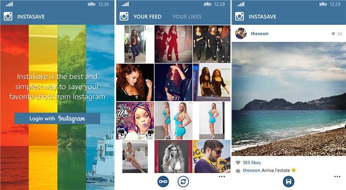 Instasave é um aplicativo que salva imagens do Instagram na galeria do telefone (Foto: Divulgação/Windows Phone Store)