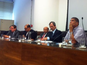 Integrantes da Corregedoria reunidos nesta quinta-feira (Foto: Roney Domingos/G1)