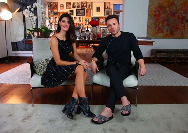 Isabella Fiorentino entrevista o famoso Mister V em comemoração aos seus 35 anos. (Foto: Divulgação)