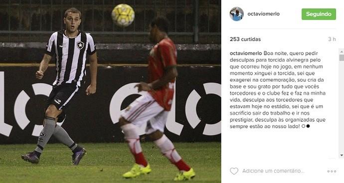 Octávio, Botafogo (Foto: Reprodução / Instagram)