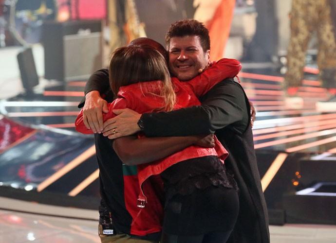 Sandy, Thiaguinho e Paulo Ricardo em momento 'Own' (Foto: Isabella Pinheiro/Gshow)