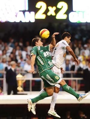 Alan Kardec Santos André Leone Guarani (Foto: Marcos Ribolli / Globoesporte.com)