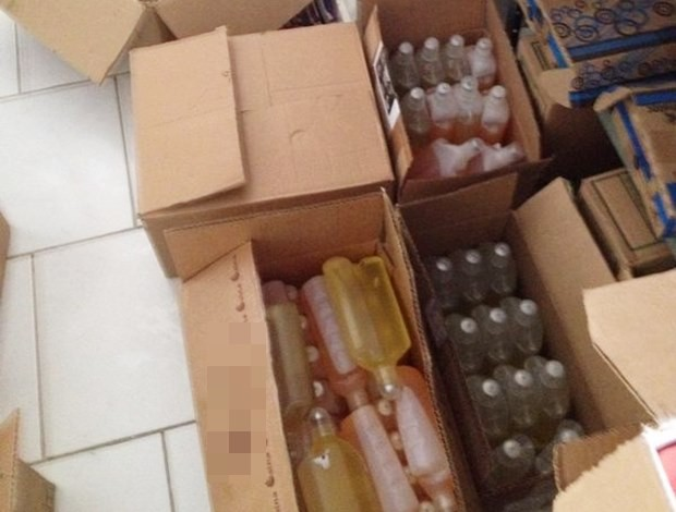 Produtos estavam dentro de residência, no bairro Jaguaré (Foto: Divulgação / Polícia Federal)