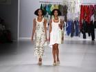 'Nem o pai sabe quem é quem', dizem modelos gêmeas no Fashion Rio