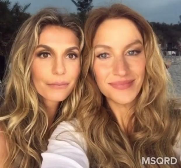 Gisele troca de rosto com Ivete Sangalo (Foto: Reprodução Instagram)