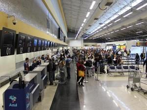 Passageiros no Aeroporto Internacional de Viracopos (Foto: Aeroportos Brasil Viracopos)