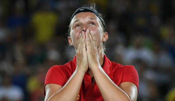 Kirsten Flipkens, tênis, bélgica (Foto: Luis Acosta / AFP)