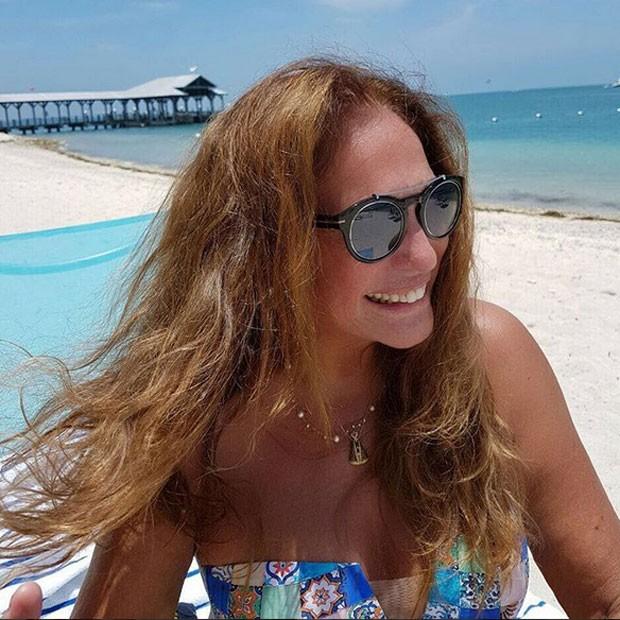 Susana Vieira em praia em Keywest, na Flórida, nos Estados Unidos (Foto: Instagram/ Reprodução)